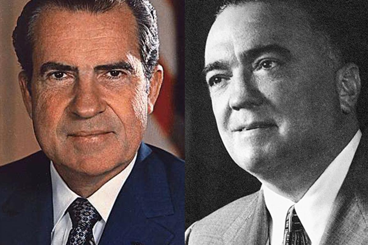 Richard Nixon and J. Edgar Hoover      (Wikipedia)