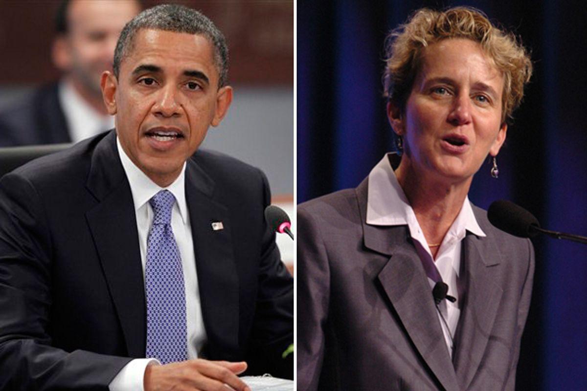 Barack Obama and SEIU president Mary Kay Henry  (AP/SEIU)