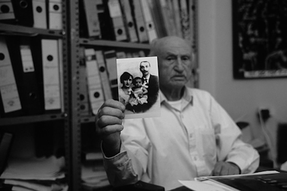 Tuviah Friedman (23 January 1922 -- 13 January 2011) was a Nazi hunter and director of the Institute for the Documentation of Nazi War Crimes in Haifa, Israel.     (Courtesy of Jonathan Silvers/Saybrook Productions)