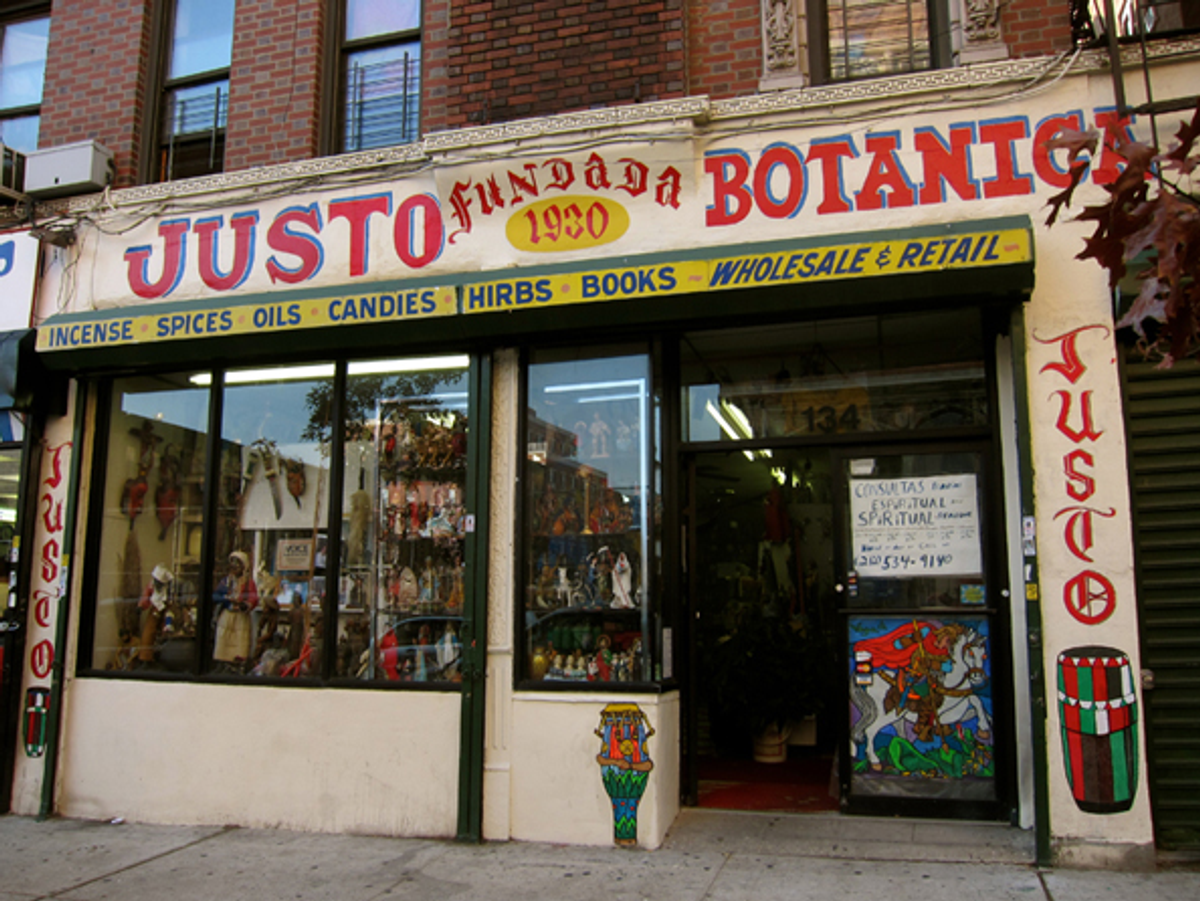 Justo Botánica on East 104th and Lexington, New York