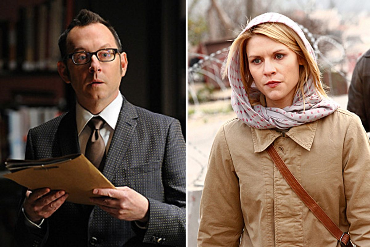 """Michael Emerson in """"Person of Interest"""" and Claire Danes in """"Homeland"""""""