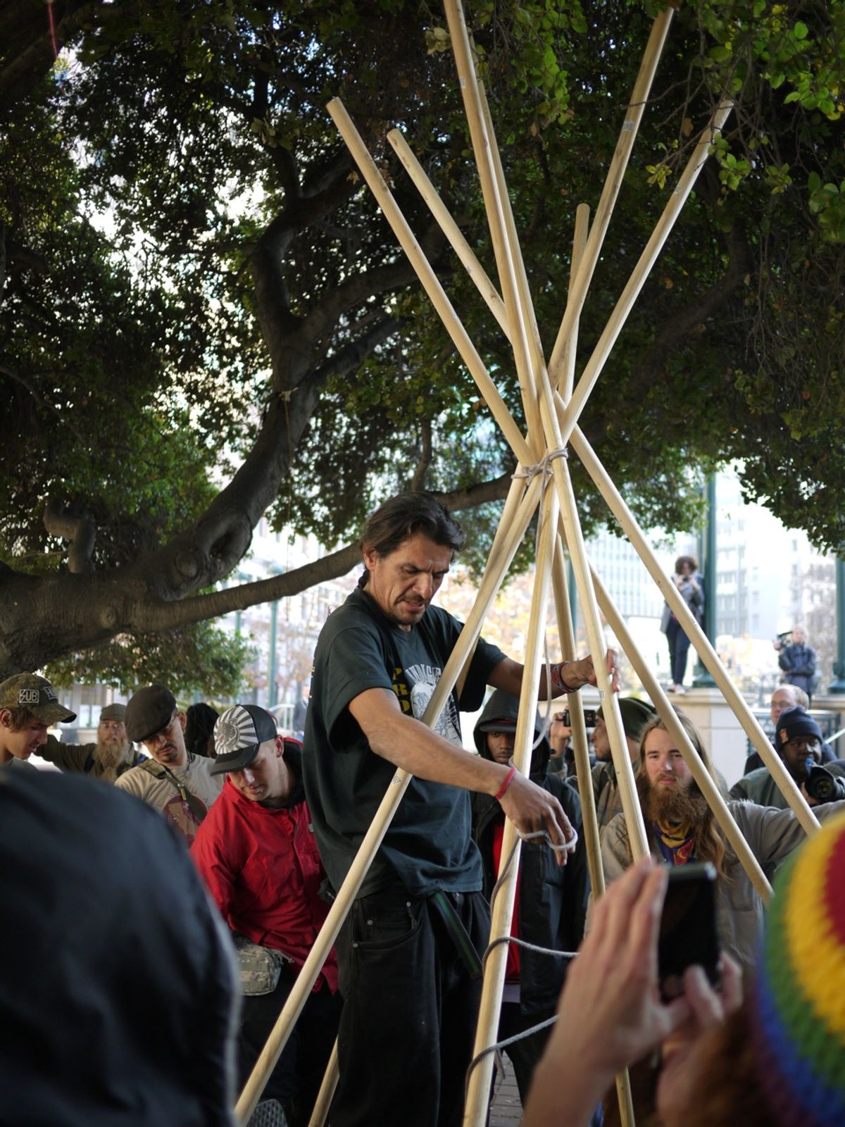 A teepee grows in Oakland     (Chris Colin)
