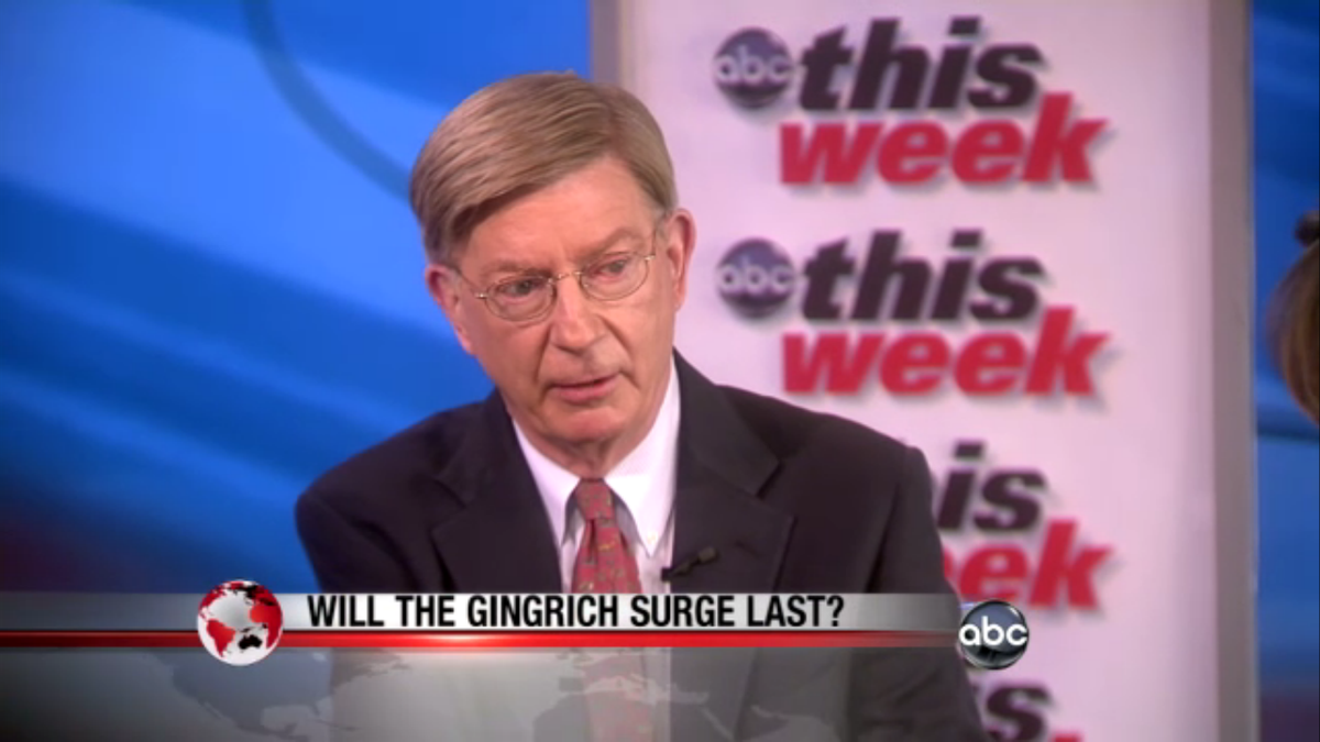 """George Will on ABC's """"This Week""""   (HuffingtonPost)"""