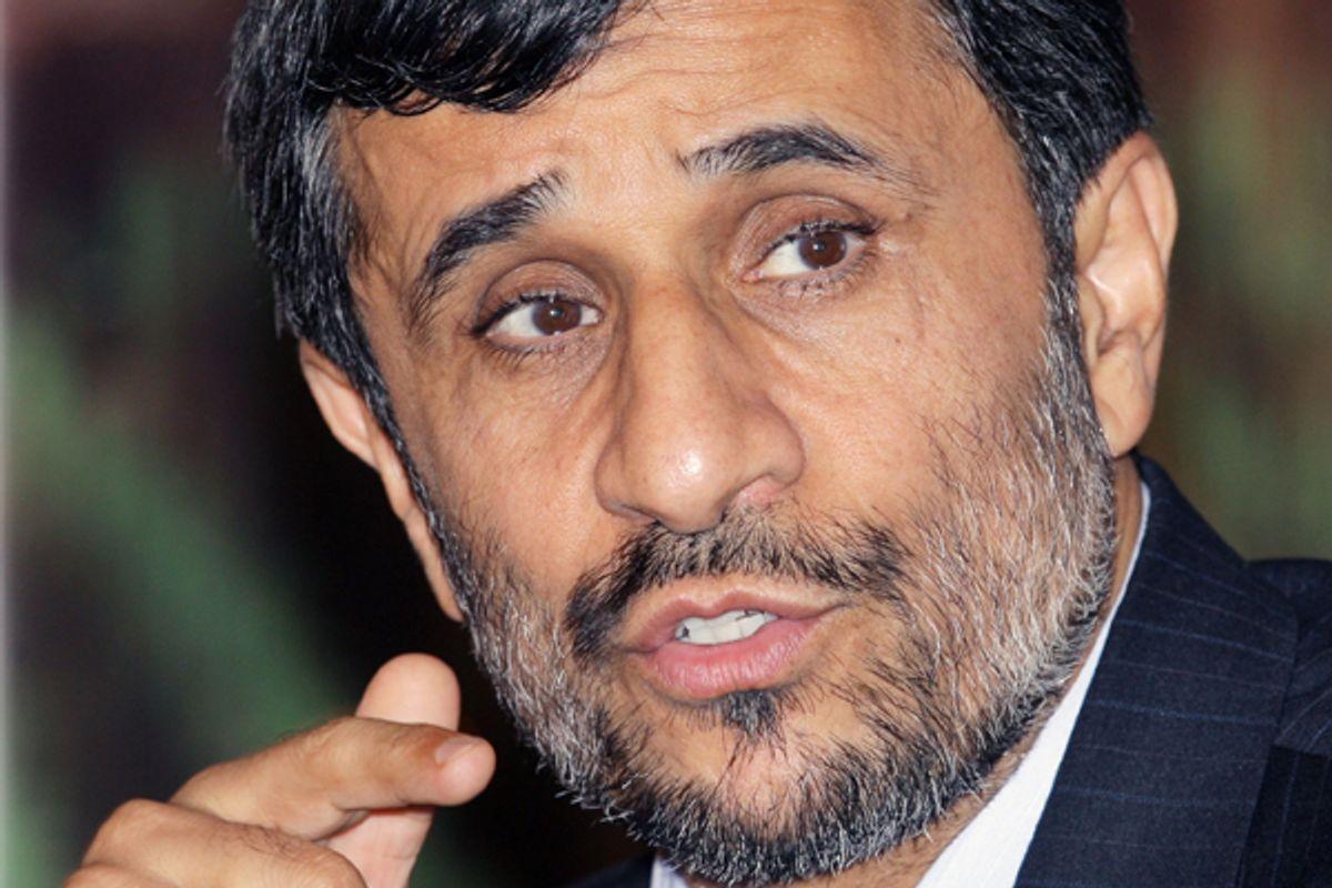 Iranian president Mahmoud Ahmadinejad   (AP/Burhan Ozbilici)