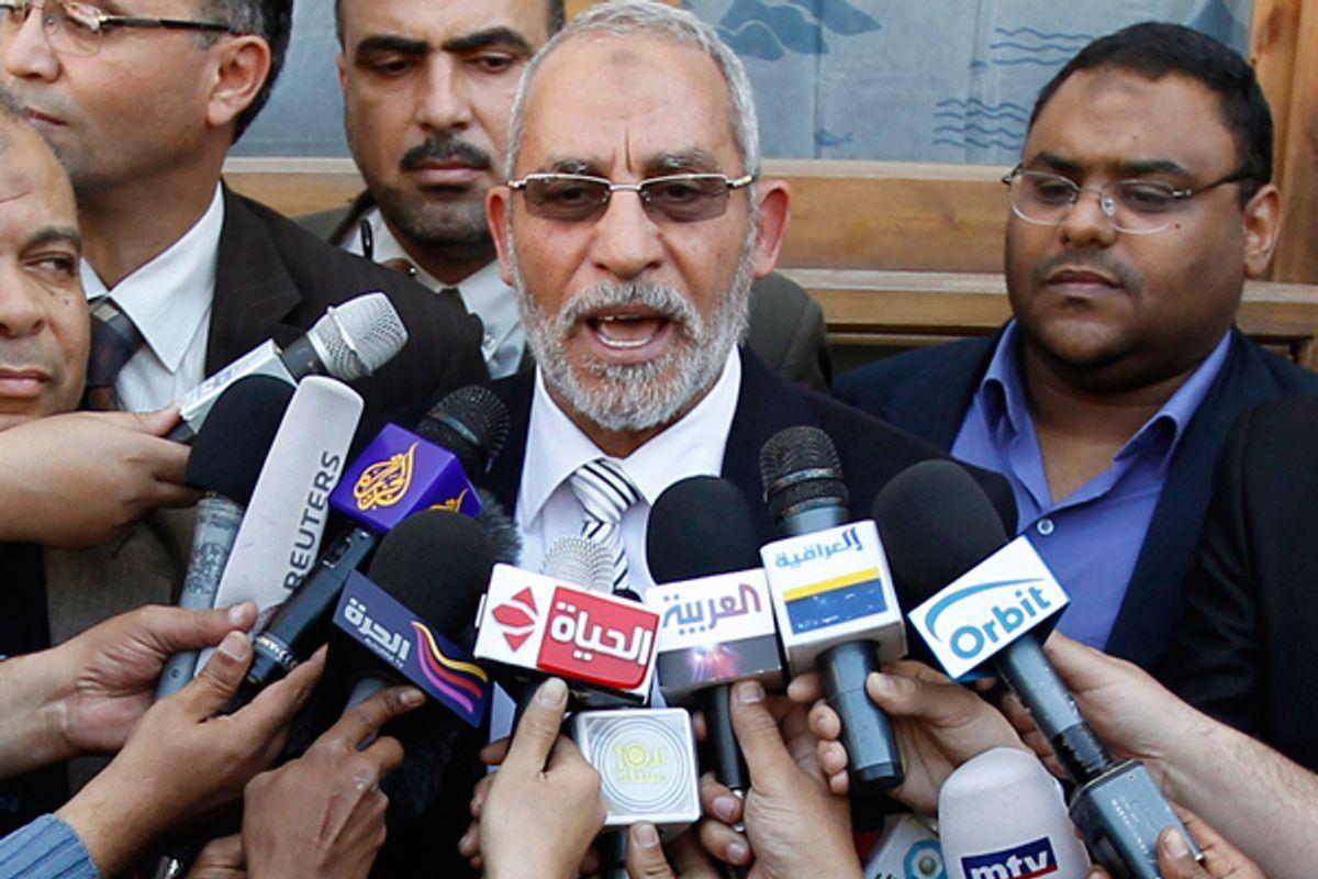 Muslim Brotherhood leader Mohammed Badie   (Reuters)