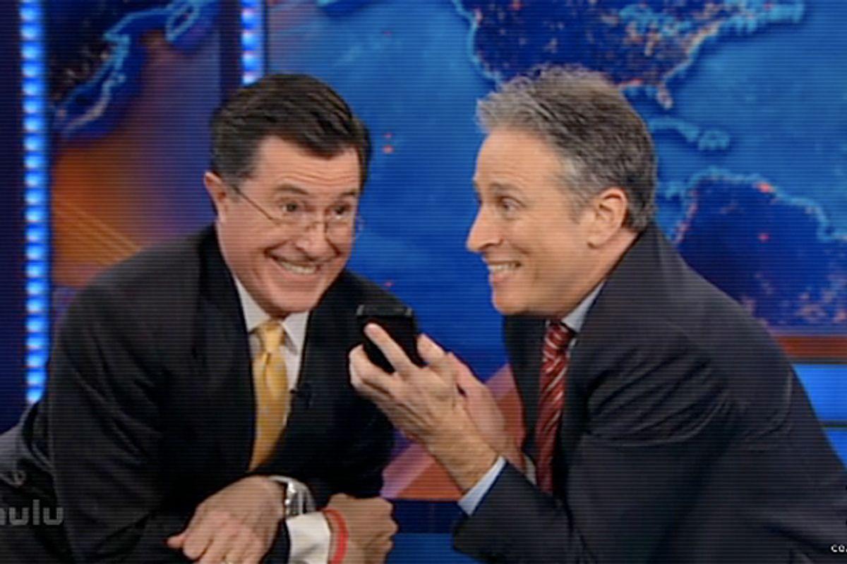 Stephen Colbert and Jon Stewart.          (Comedy Central)
