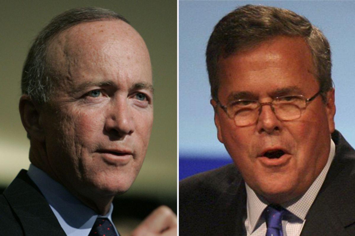 Mitch Daniels and Jeb Bush     (AP)