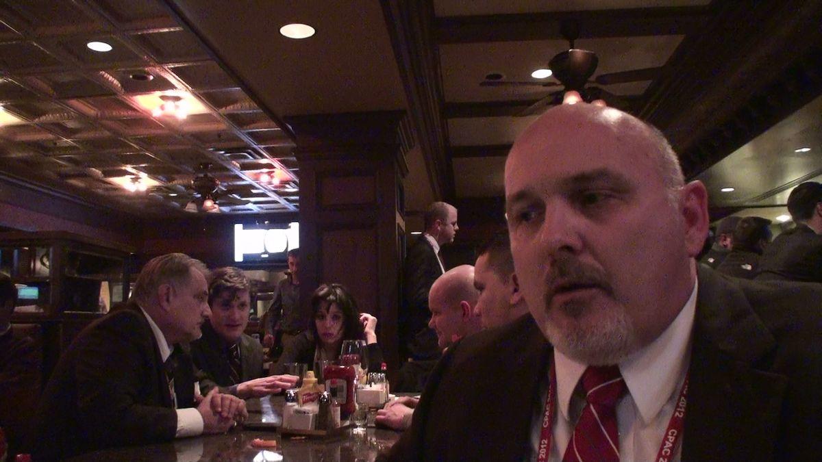 At the CPAC-Occupy beer summit      (Eddie Becker)