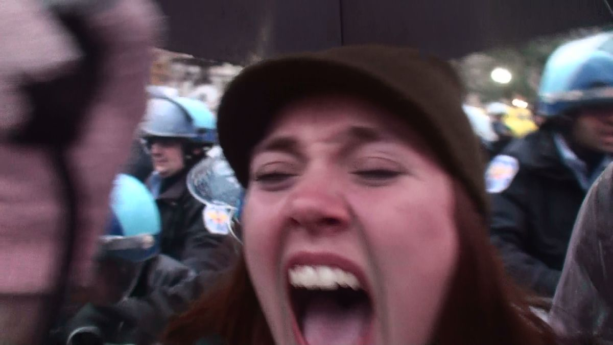Chaos at OccupyDC (Eddie Becker)