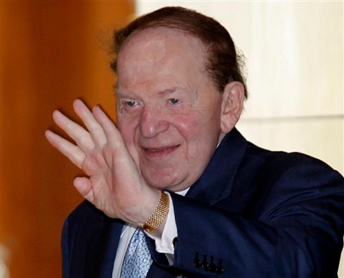 Sheldon Adelson    (AP Photo/Vincent Yu)
