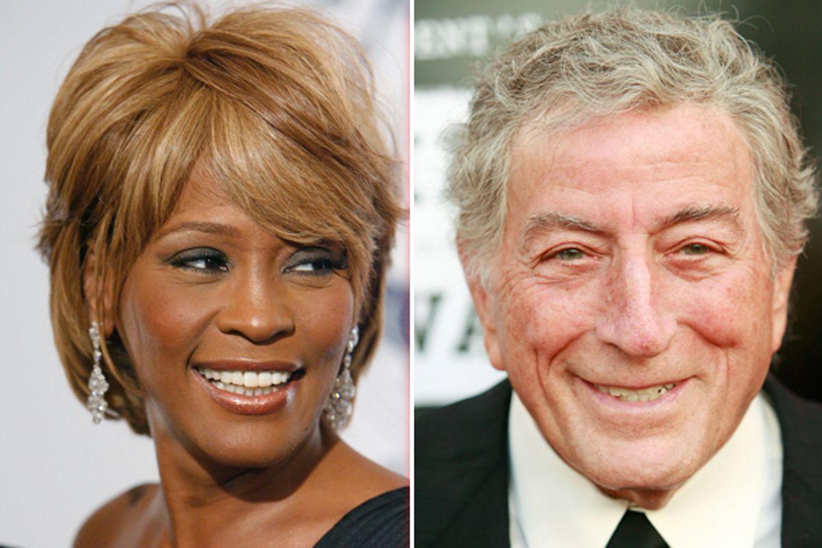 Whitney Houston and Tony Bennett   (AP)