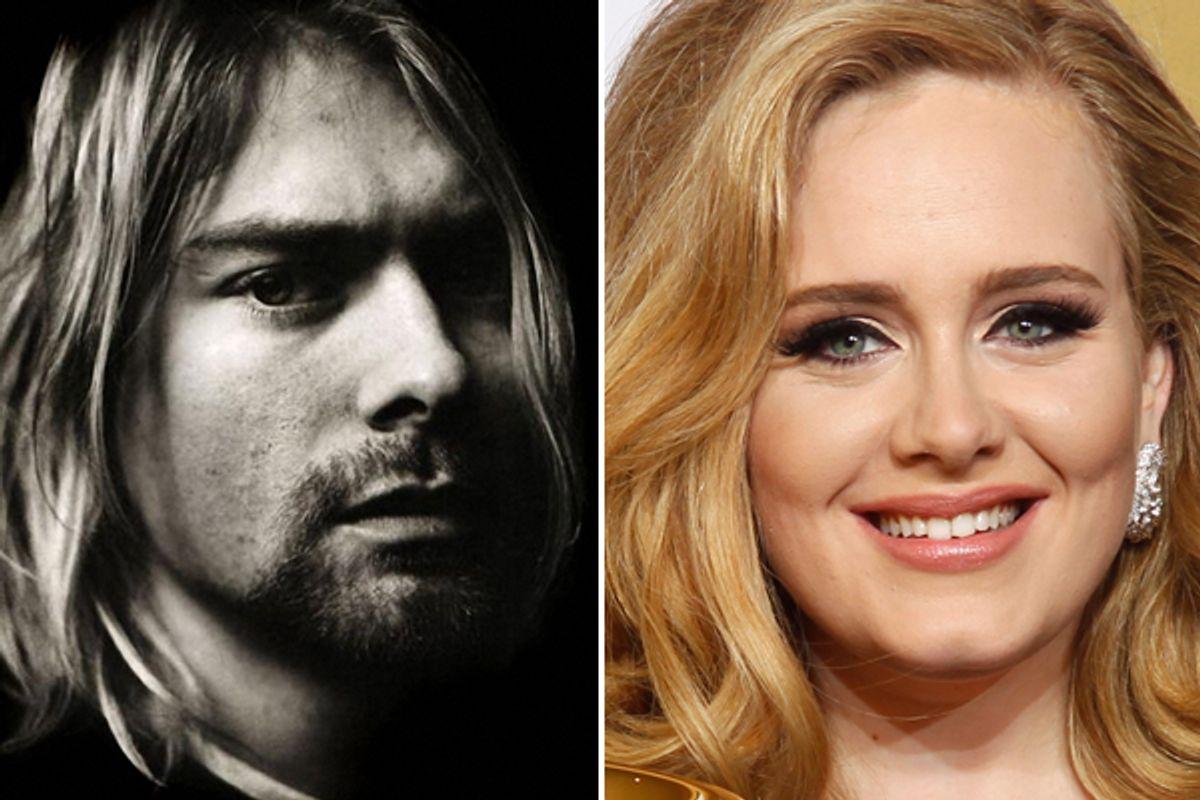 Kurt Cobain and Adele            (Reuters)