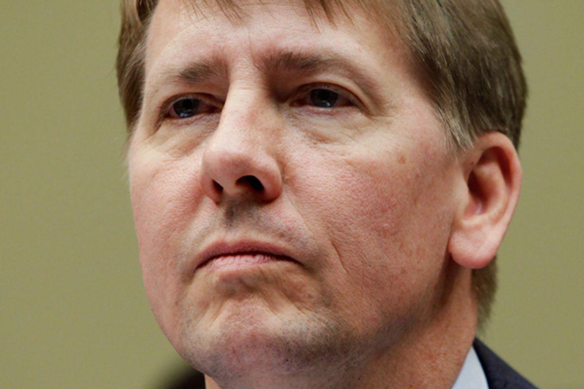 Richard Cordray, financial watchdog     (Reuters/Yuri Gripas)