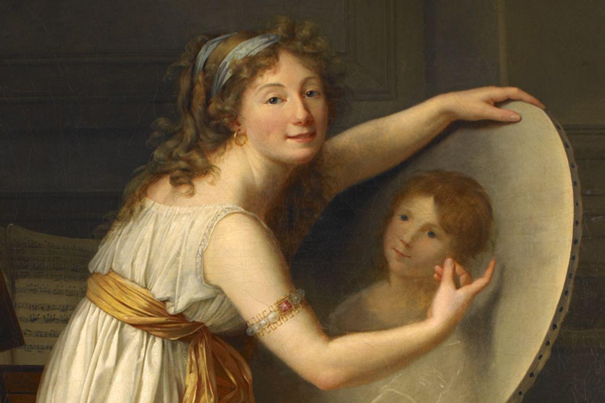 """Rose Adélaïde Ducreux (1761-1802), """"Portrait of the Artist"""" (detail).  (Musée des beaux-arts, Rouen)"""