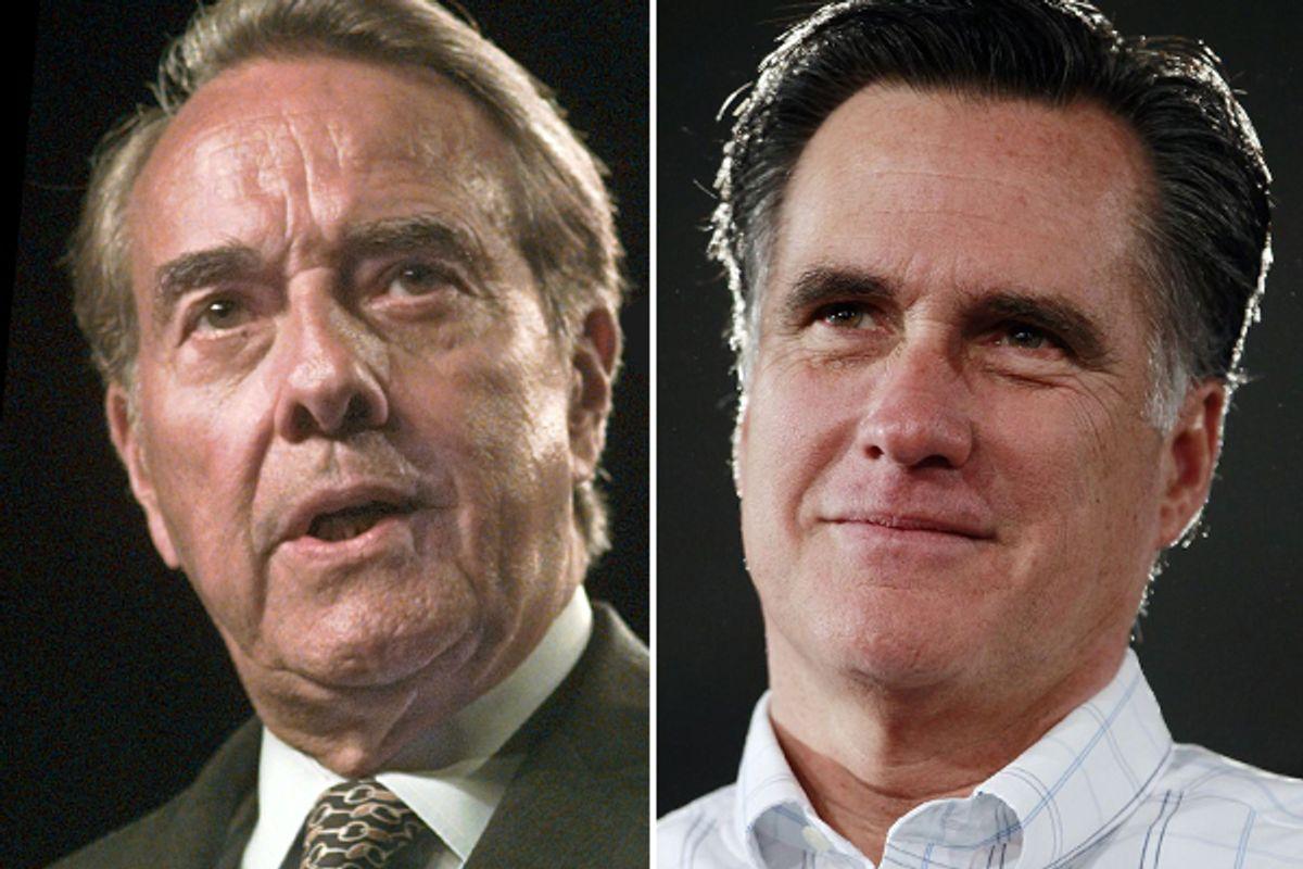 Bob Dole and Mitt Romney    (AP)