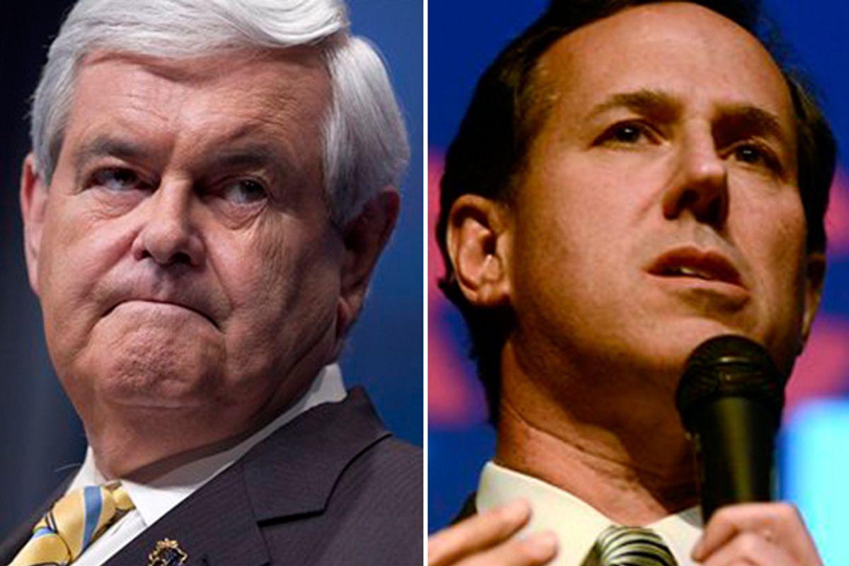 Newt Gingrich and Rick Santorum  (AP)