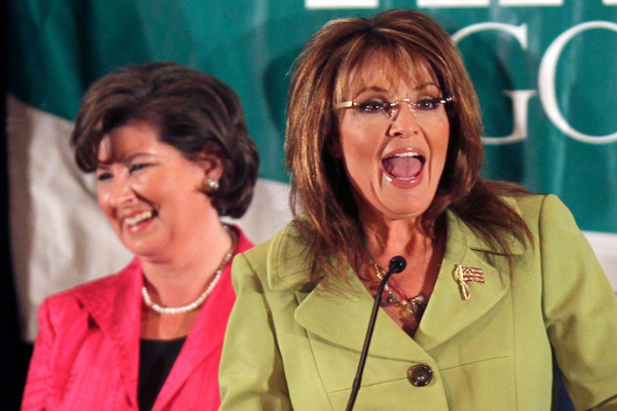Karen Handel and Sarah Palin in August, 2010.      (AP/John Bazemore)