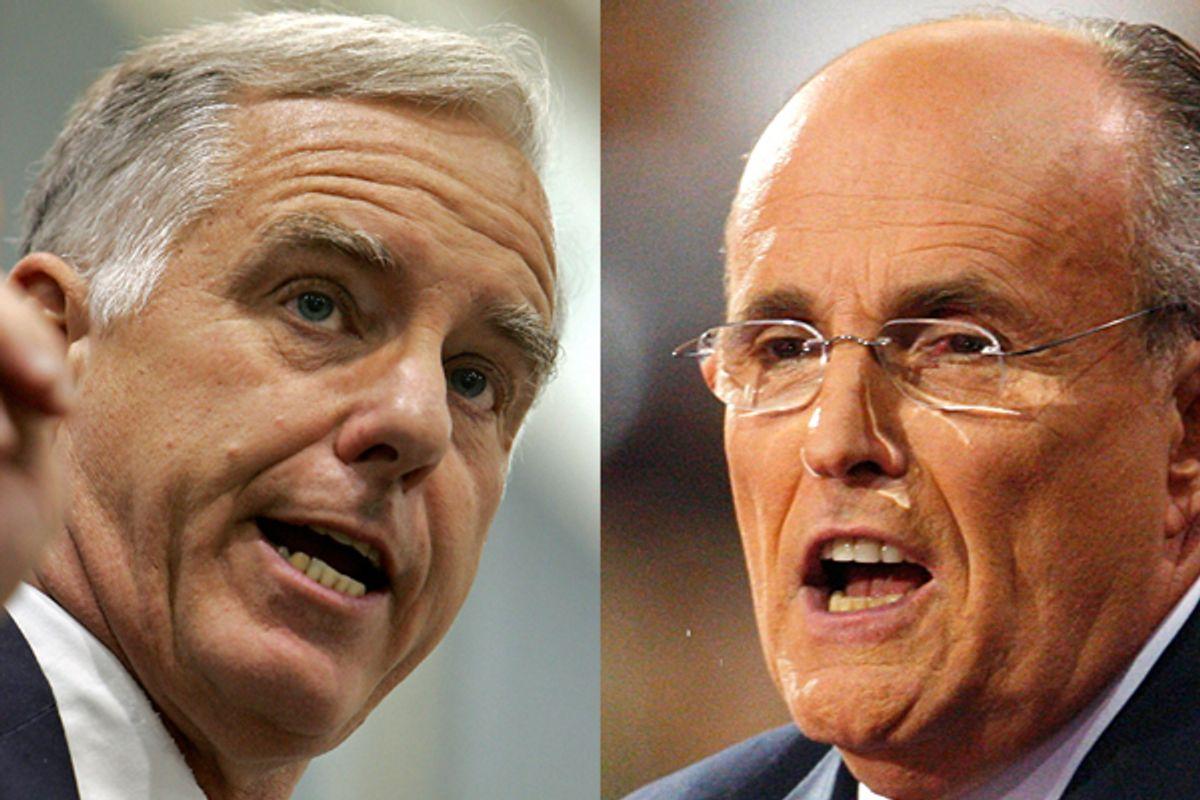 Howard Dean and Rudy Giuliani    (AP)