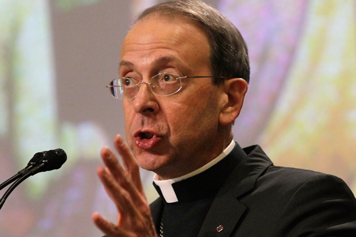 Bishop William Lori, birth control foe    (AP/Patrick Semansky)
