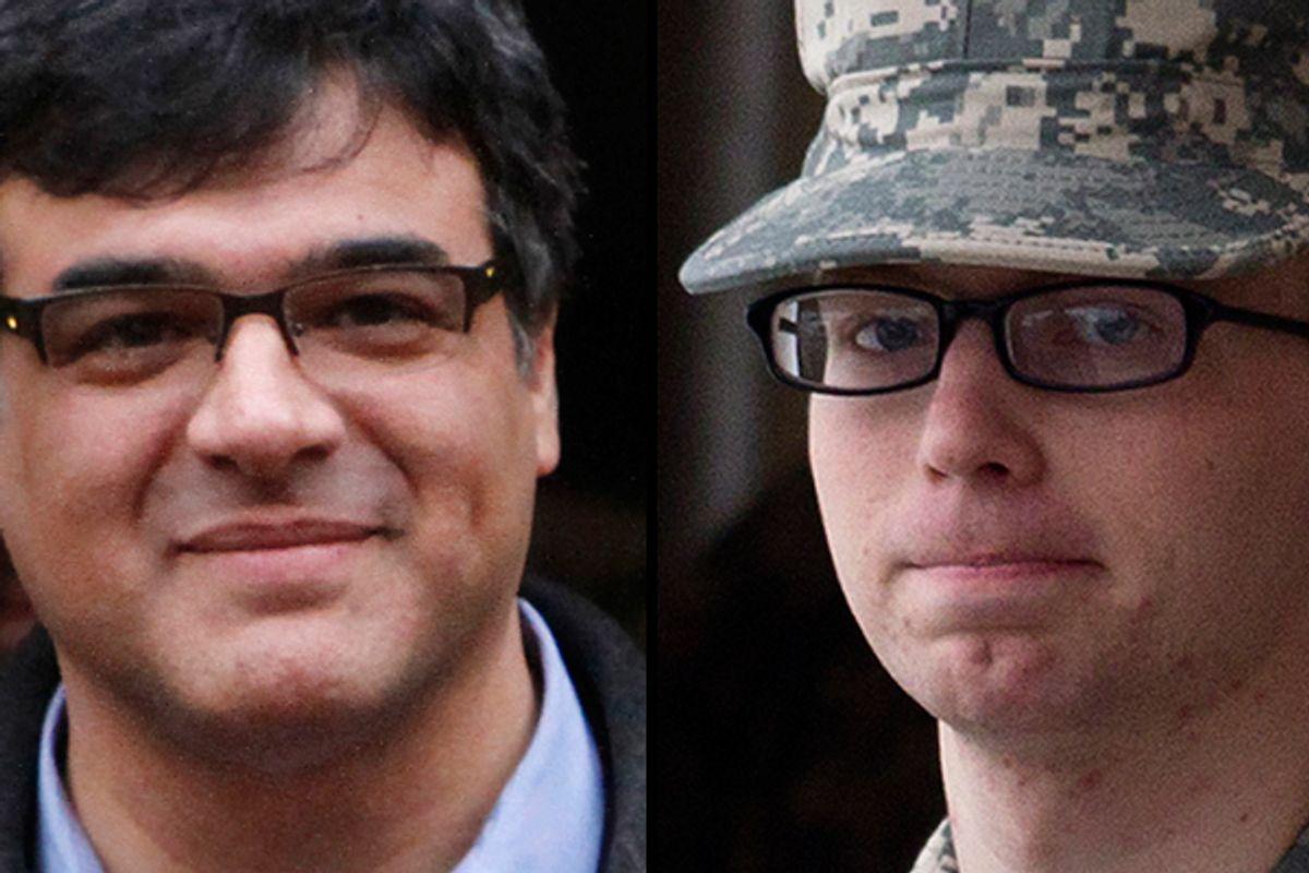 Former CIA officer John Kiriakou and Bradley Manning          (AP)