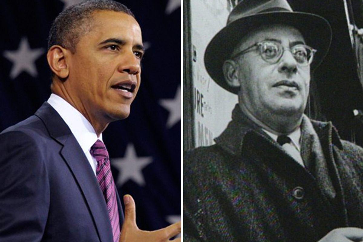 Barack Obama and Saul Alinsky    (AP)
