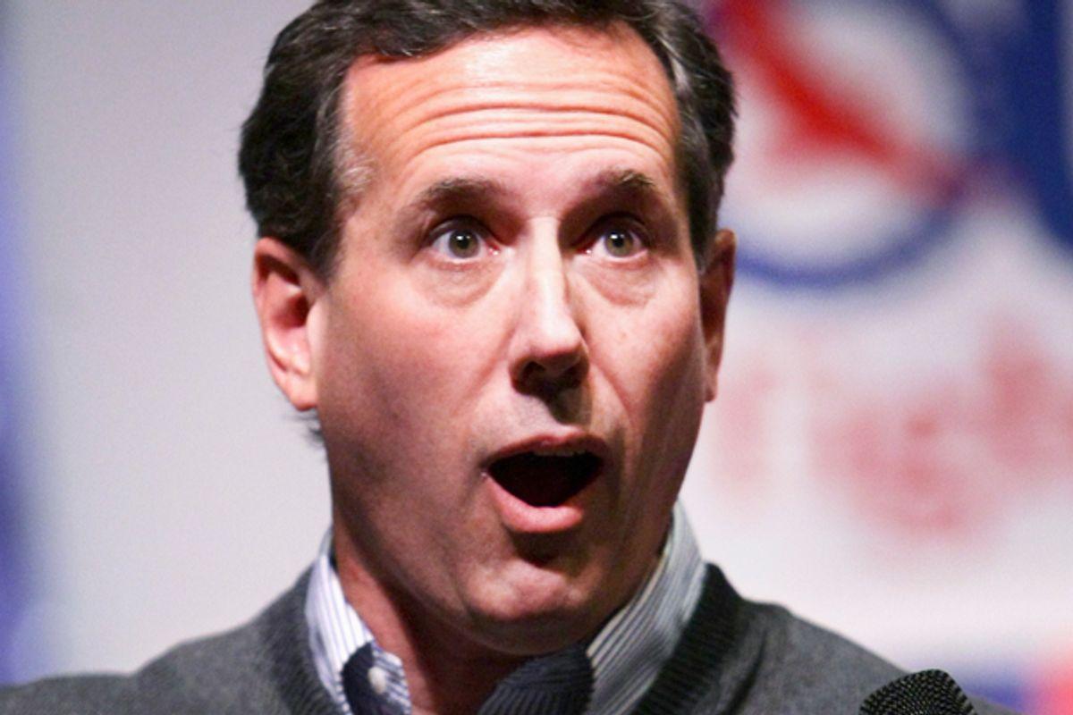 Rick Santorum        (Reuters/Brian Losness)