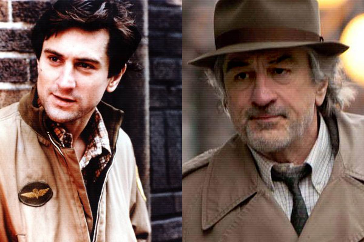 """Robert DeNiro in """"Taxi Driver"""", left, and """"Being Flynn"""", right   (IMDB)"""