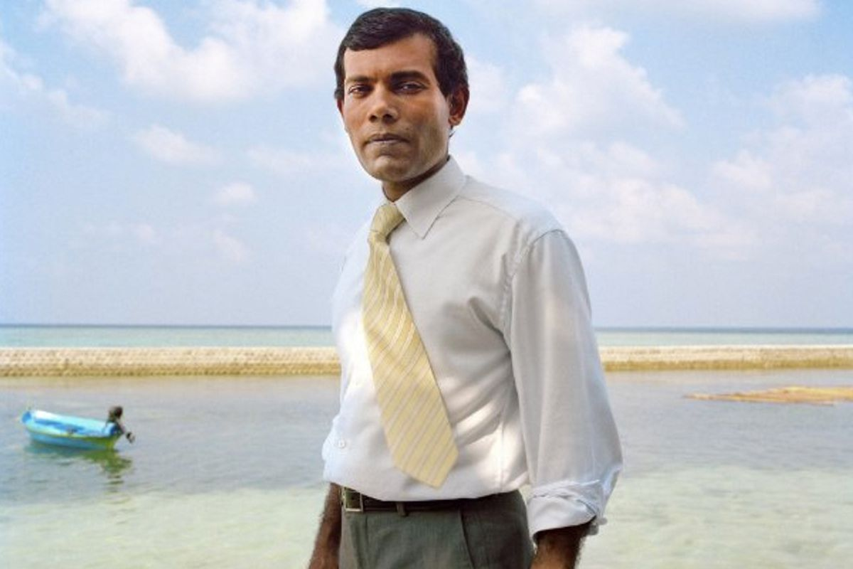 """Mohamed Nasheed in """"The Island President"""""""