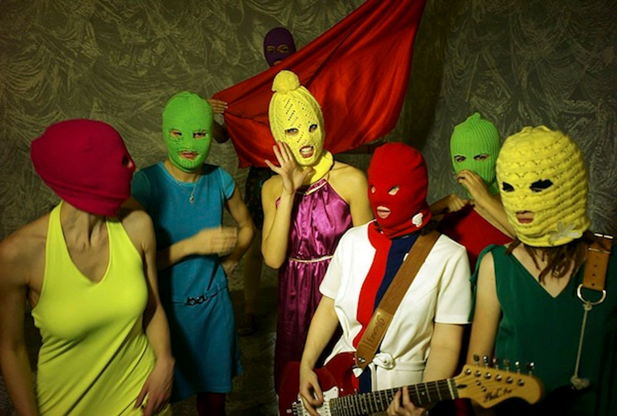 Seven members of the band Pussy Riot               (Wikipedia)