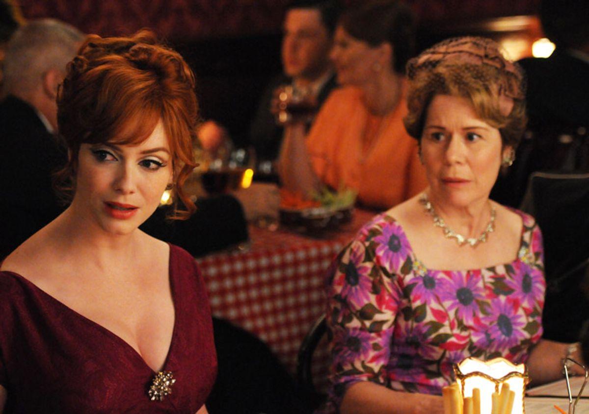 "Joan (Christina Hendricks) in a scene from last night's ""Mad Men"""