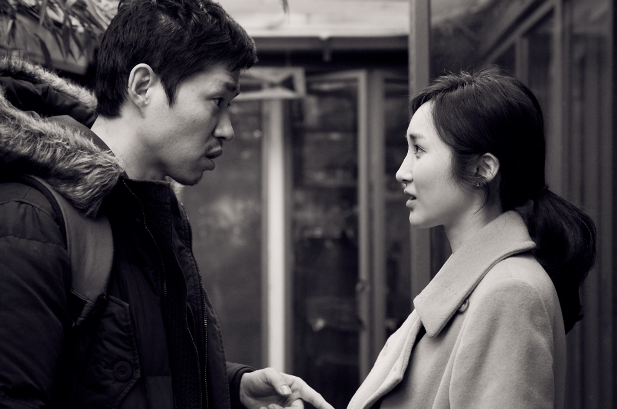 """Yu Junsang (Seongjun) and Kim Bokyung (Yejeon) in """"The Day He Arrives."""" Courtesy of Cinema Guild."""