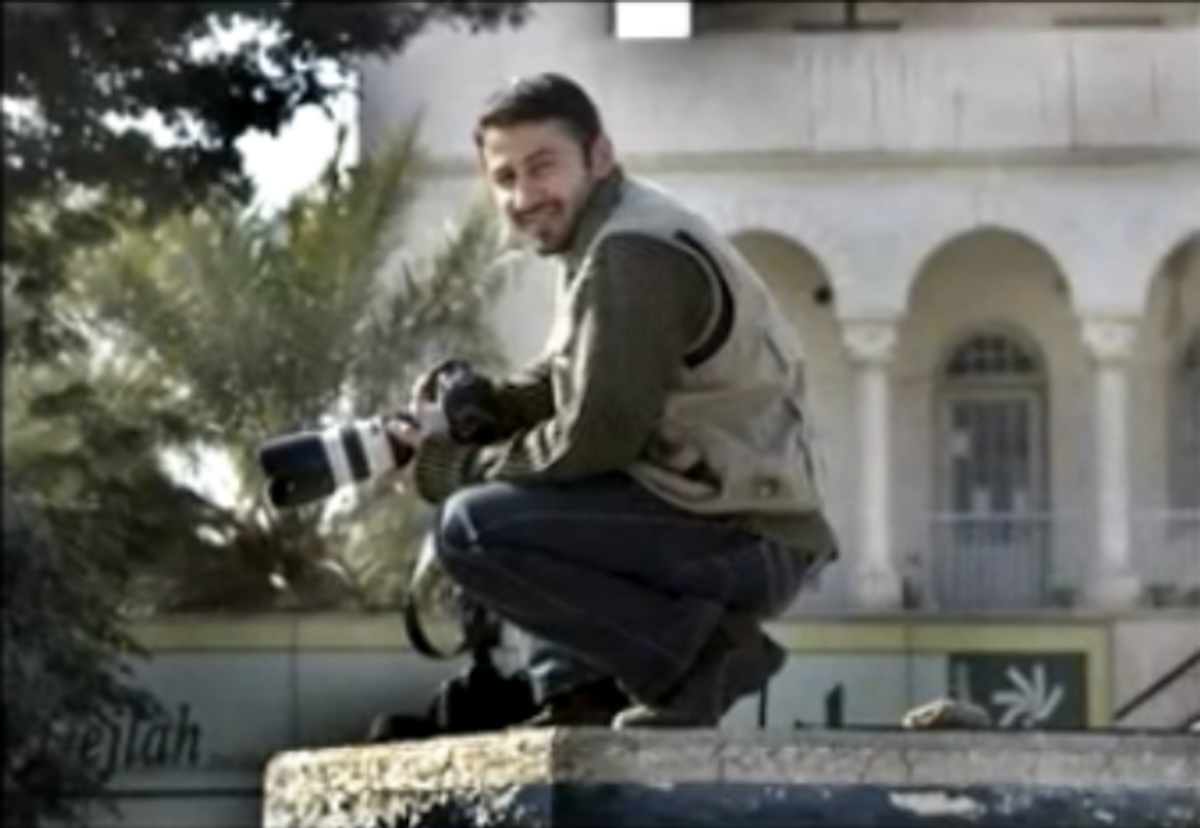 Still of Namir Noor-Eldeen, a 22-year-old war photographer, from WikiLeaks' Collateral Murder video