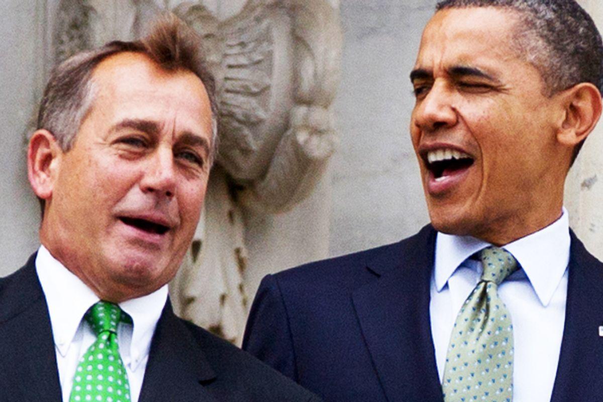 John Boehner and Barack Obama       (AP/Carolyn Kaster)