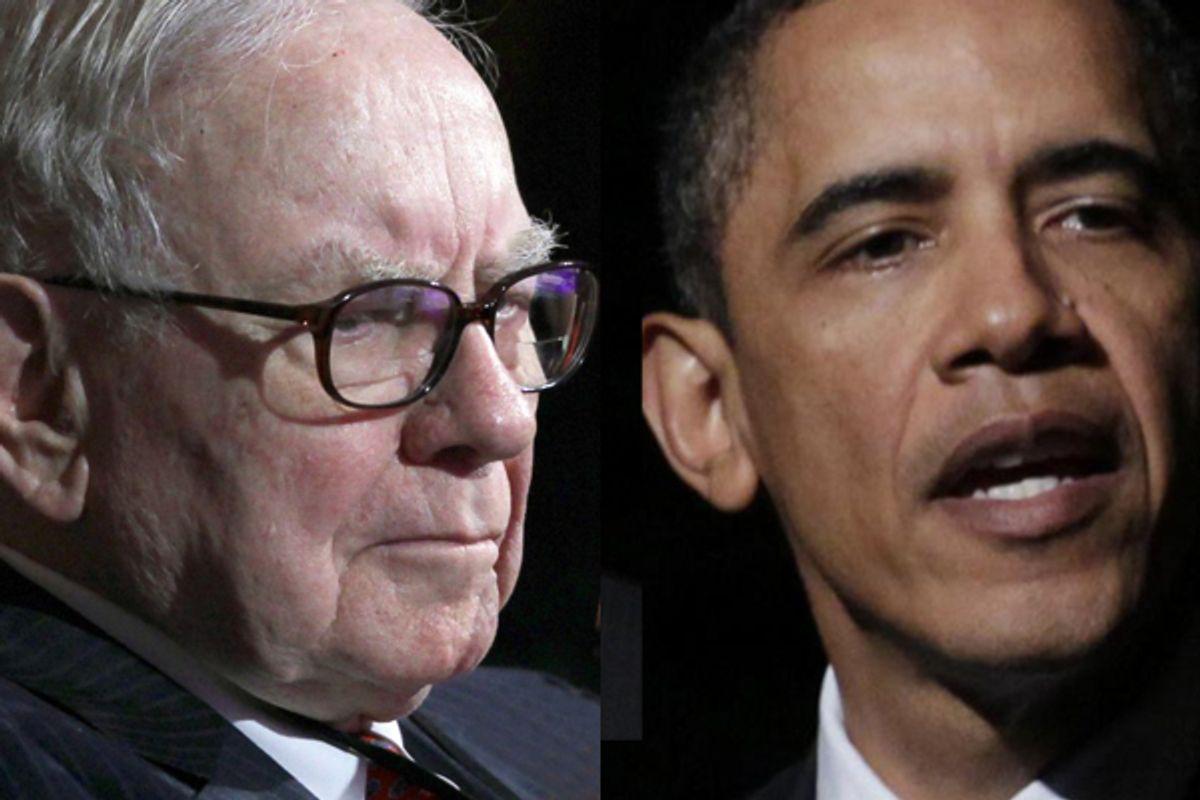 Warren Buffet and Barack Obama       (AP)