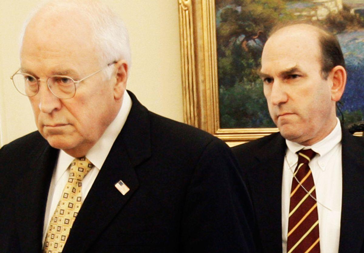 Dick Cheney, left, and Elliott Abrams      (AP/Pablo Martinez Monsivais)