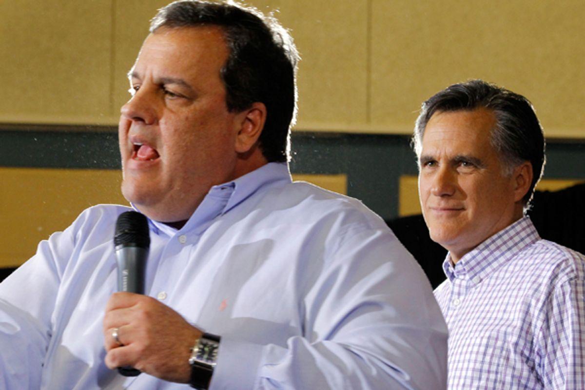 Chris Christie and Mitt Romney       (Reuters/Brine Snyder)