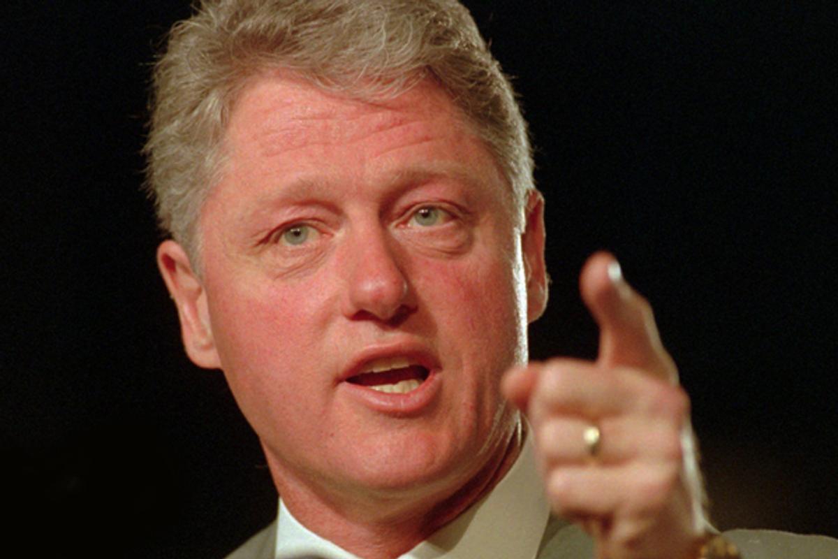 President Clinton speaks to the California Democratic Convention in Sacramento, Calif., Saturday, April 8, 1995   (AP/Robert Galbraith)