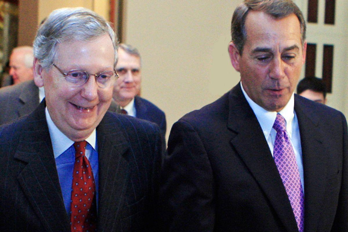 Mitch McConnell and John Boehner       (AP/Haraz N. Ghanbari)