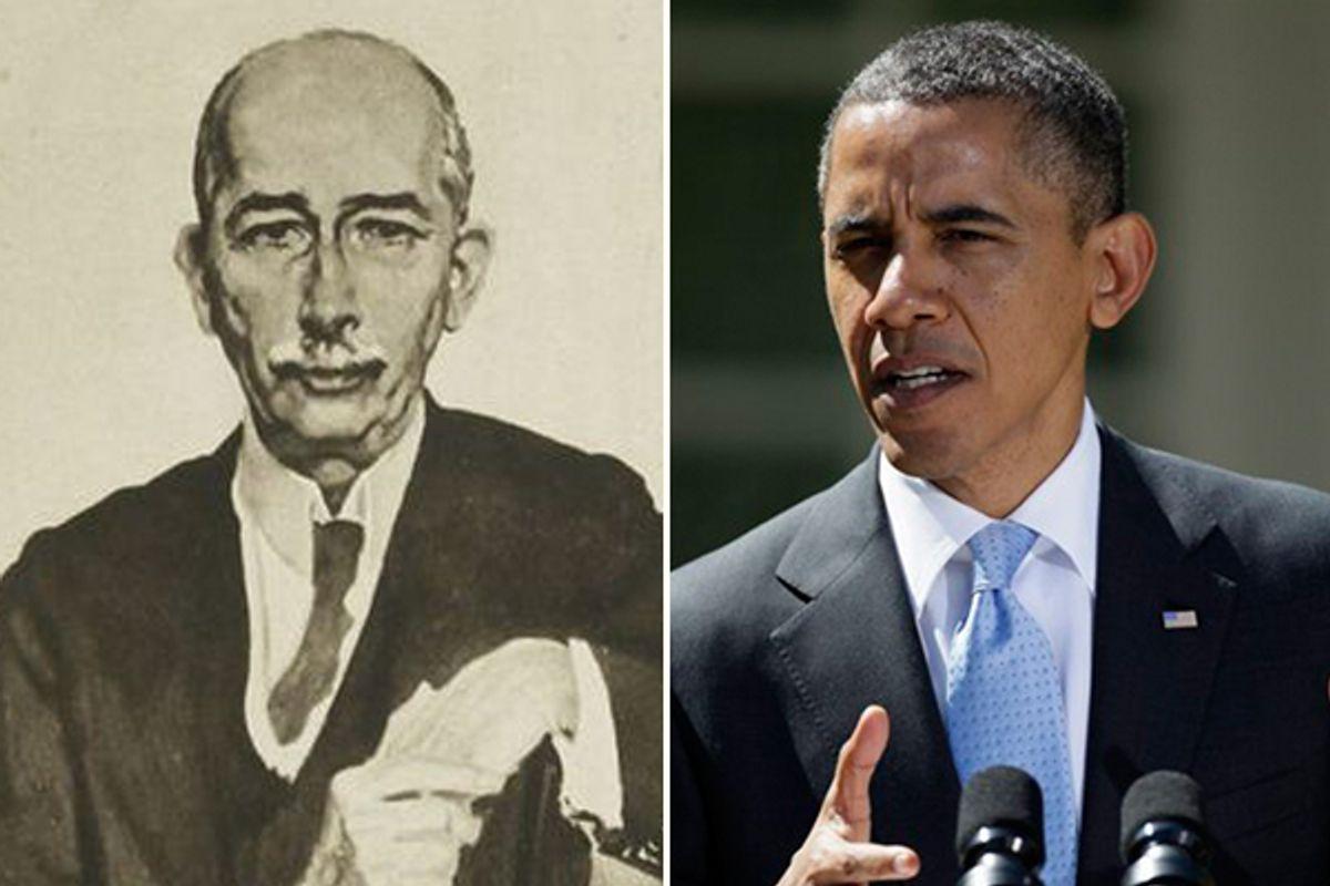 Colonel Edward M. House and Barack Obama     (Wikipedia/AP)