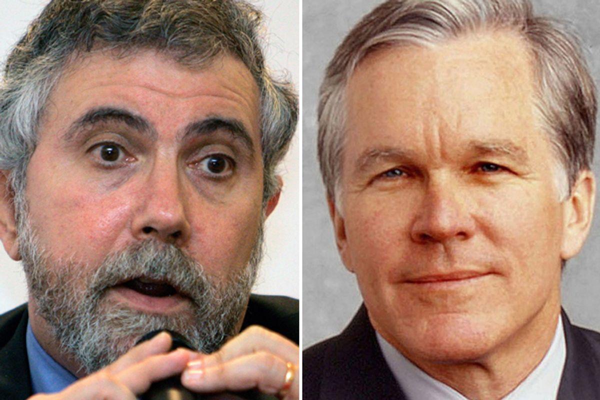 Paul Krugman and Bill Keller         (AP)