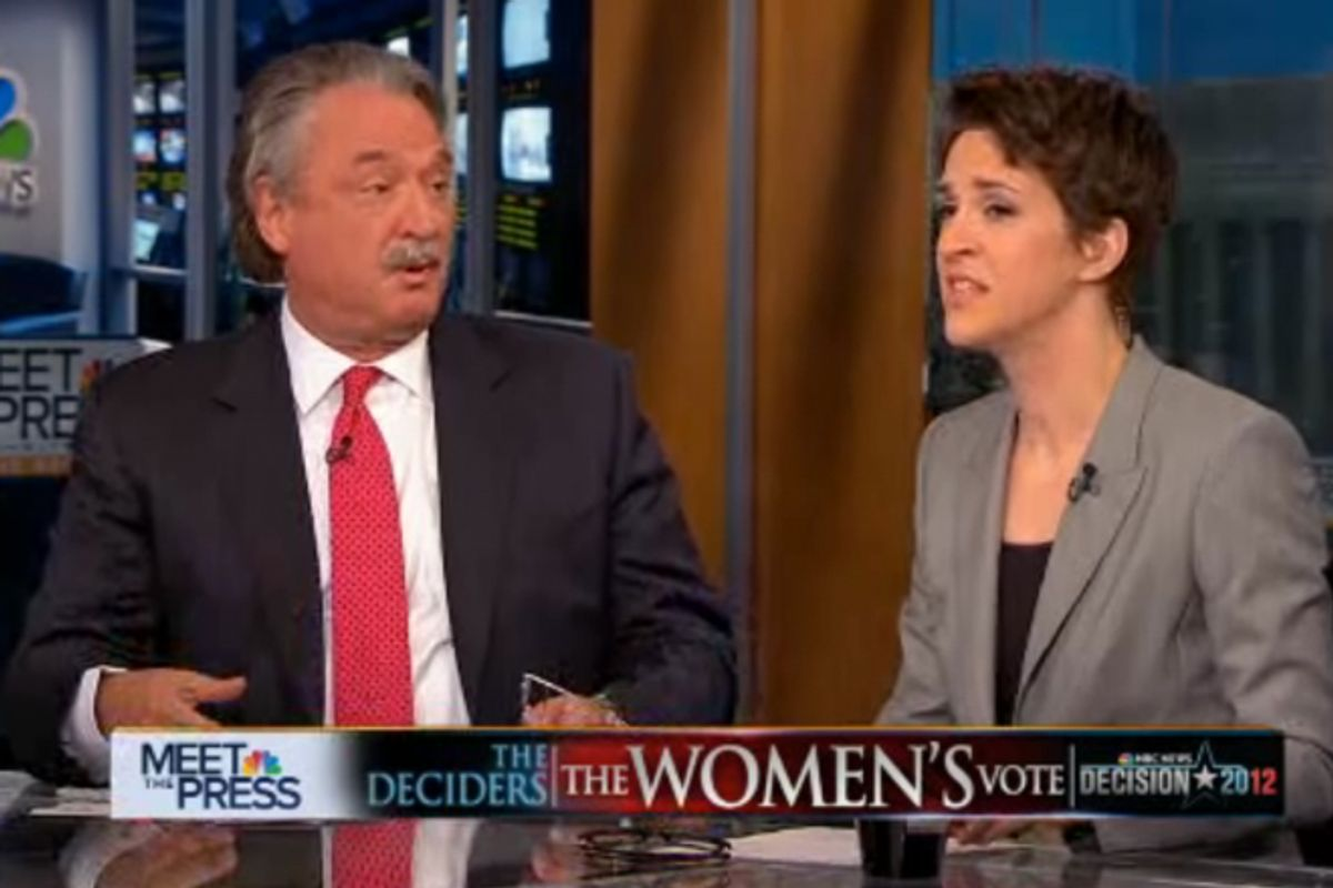 "Alex Castellanos and Rachel Maddow on ""Meet the Press"""