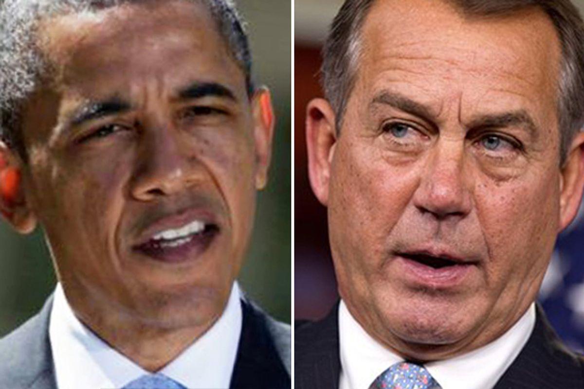 President Obama and John Boehner      (AP)