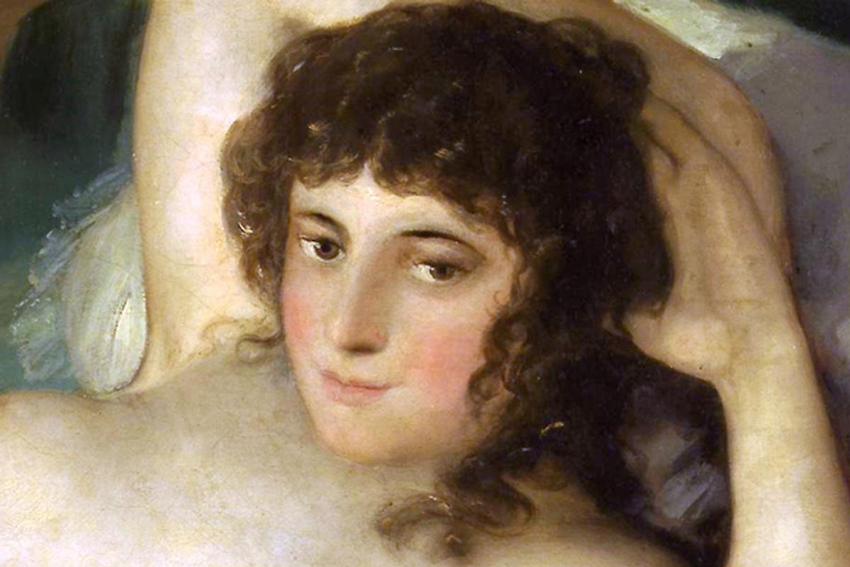 "Detail from Francisco Goya's ""La Maja Desnuda"""