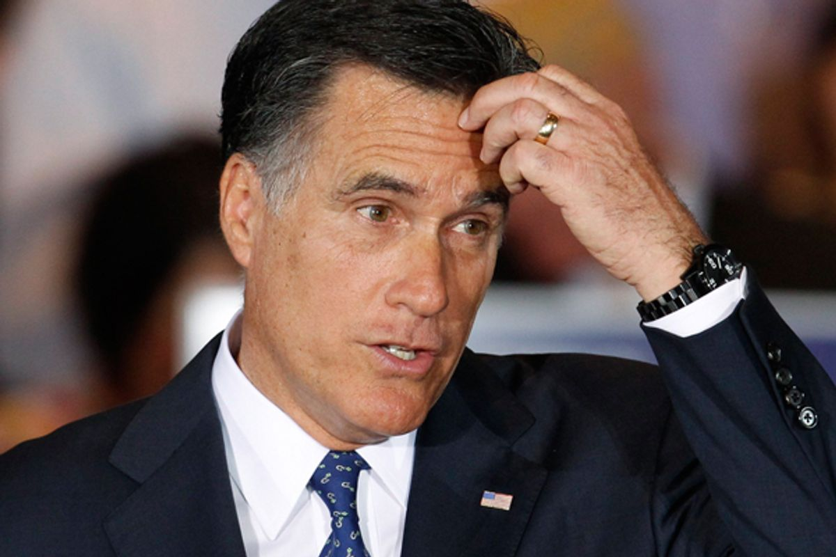 Mitt Romney   (Reuters/Jeff Haynes)