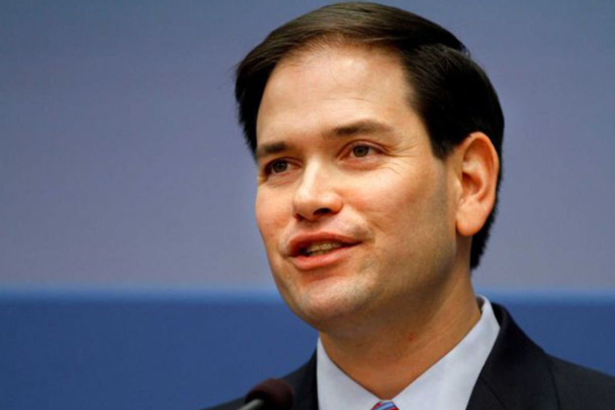 Marco Rubio speaks out on U.S. foreign policy.   (AP/Jacquelyn Martin)