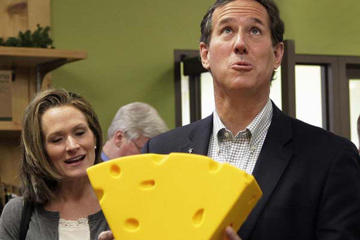 Rick Santorum and his wife Karen.      (AP/Jae C. Hong)