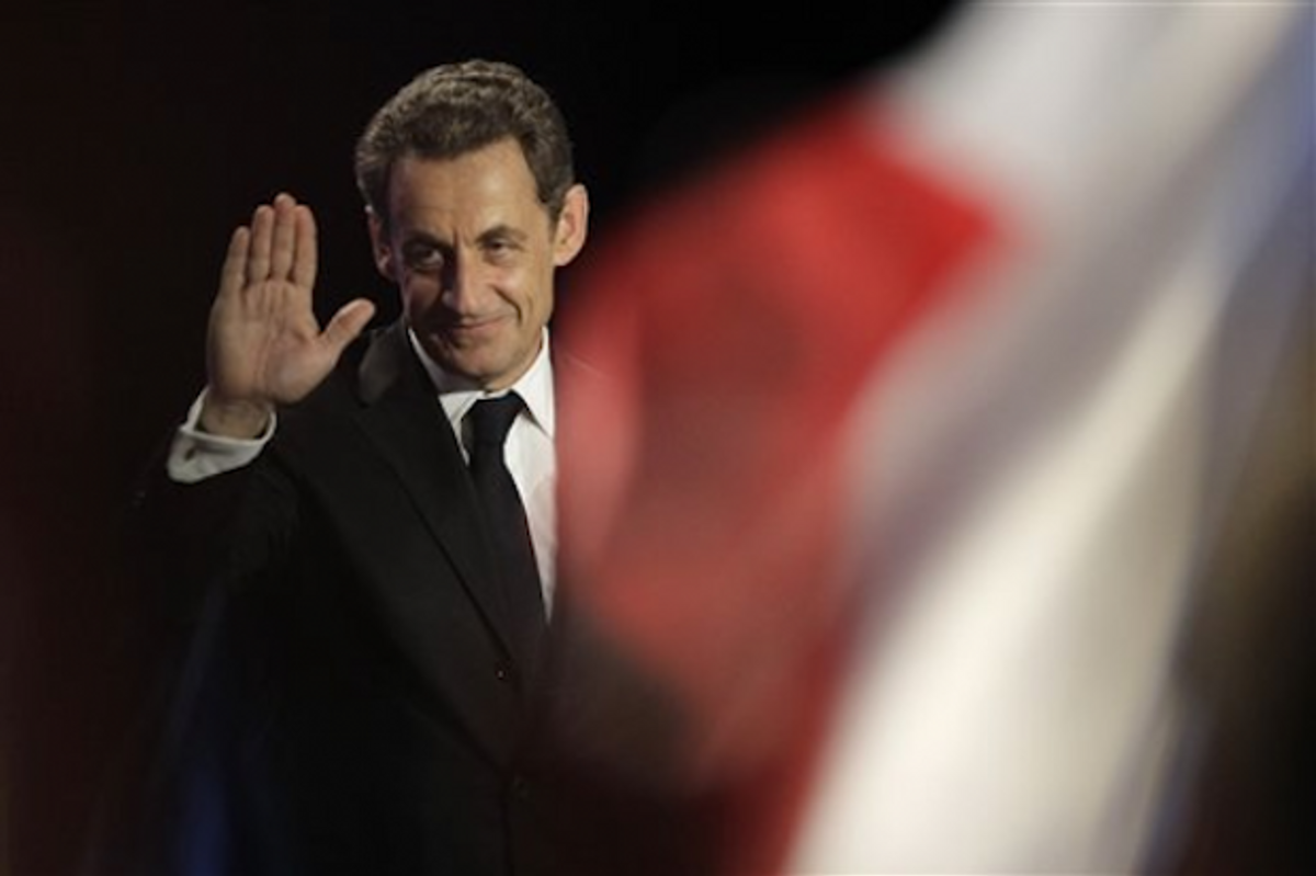 French president and re-election candidate Nicolas Sarkozy    (AP Photo/Michel Euler)
