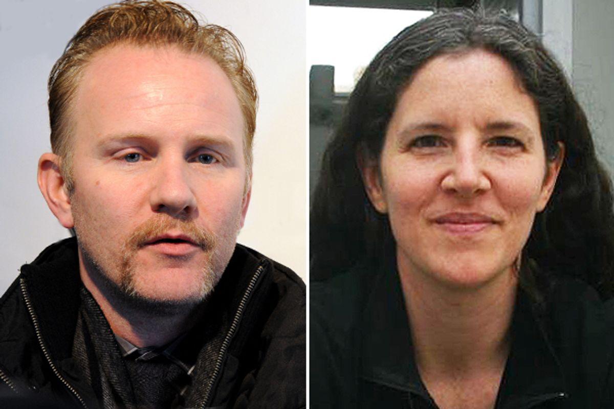 Morgan Spurlock and Laura Poitras         (AP)