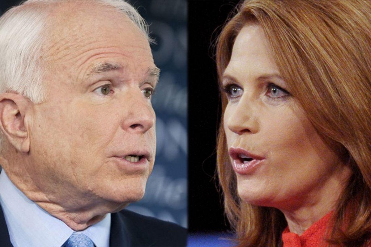 John McCain and Michele Bachmann          (AP)