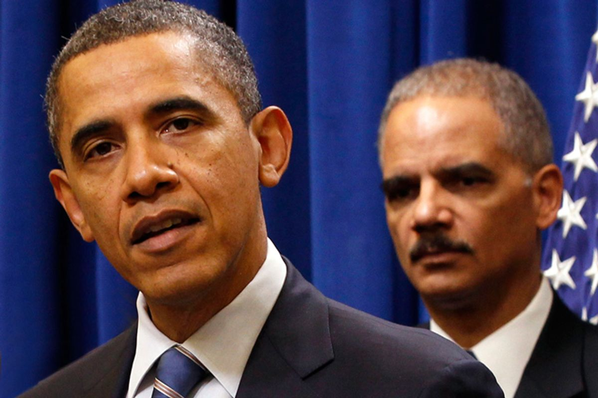 President Obama and Eric Holder      (Reuters/Larry Downing)